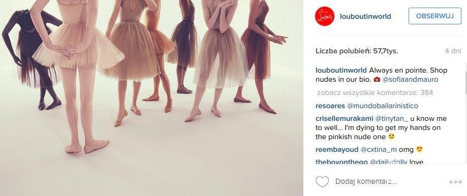 Baleriny Christian Louboutin teraz możesz kupić, dopasowując je do swojej karnacji (fot. Instagram)