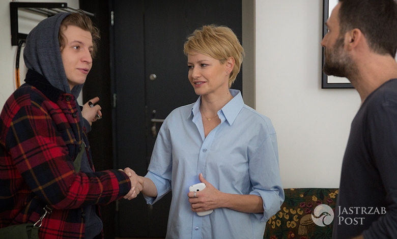 Druga szansa odcinek 7, Monika (Małgorzata Kożuchowska), Marcin (Bartłomiej Świderski), Ksawery (Maciej Musiałowski), fot: x-news
