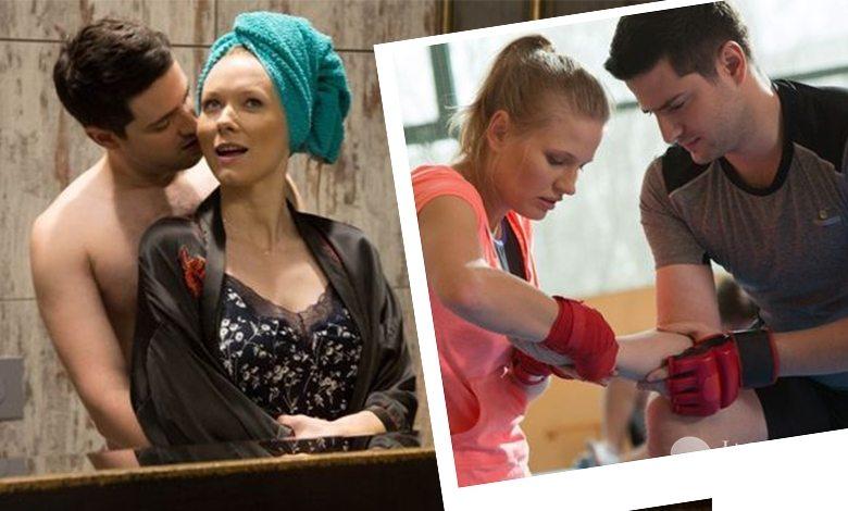 Na dobre i na złe odcinek 633, Adam (Grzegorz Daukszewicz), Aneta (Natalia Rybicka), Wiktoria (Katarzyna Dąbrowska)