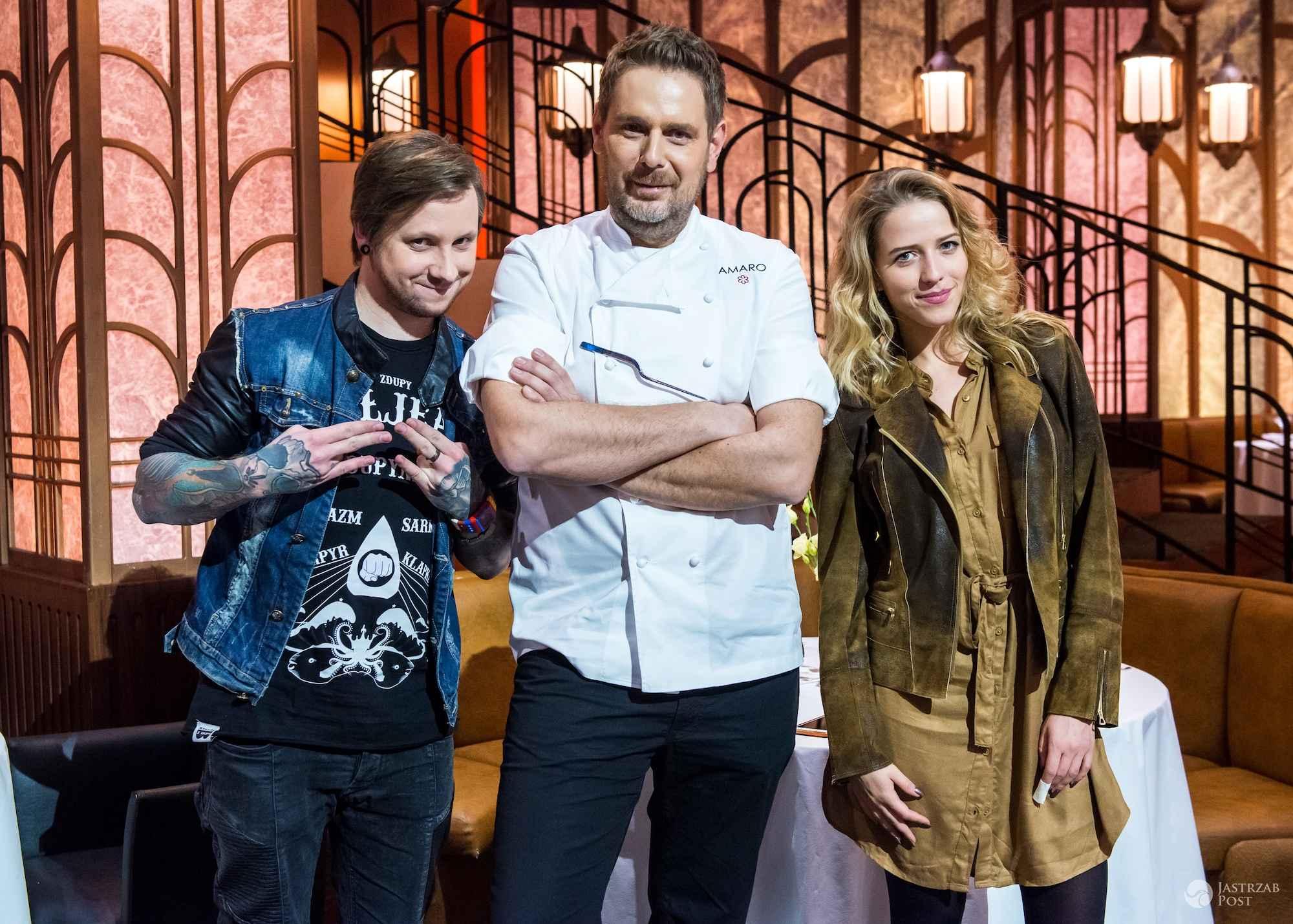 Maciej Dąbrowski (Z Dupy) i Jessica Mercedes w Hell's Kitchen 5