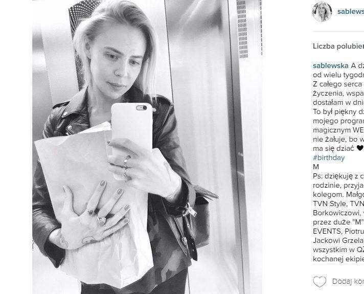 Maja Sablewska bez makijażu