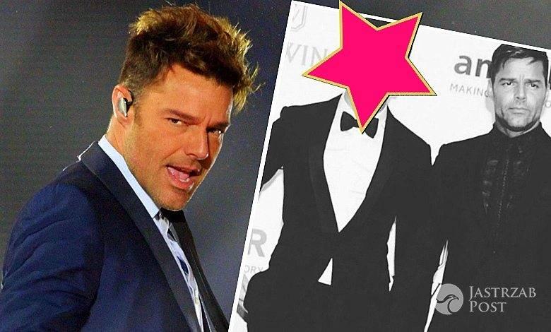 Ricky Martin z chłopakiem na ściance