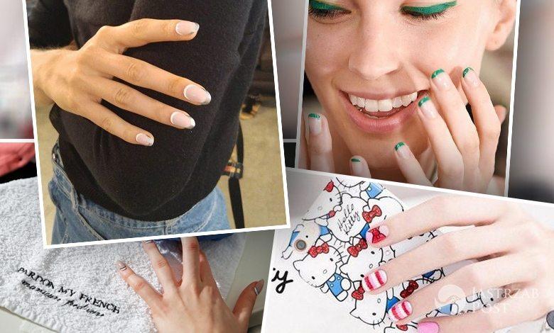 Modny manicure wiosna 2016: kolorowy french