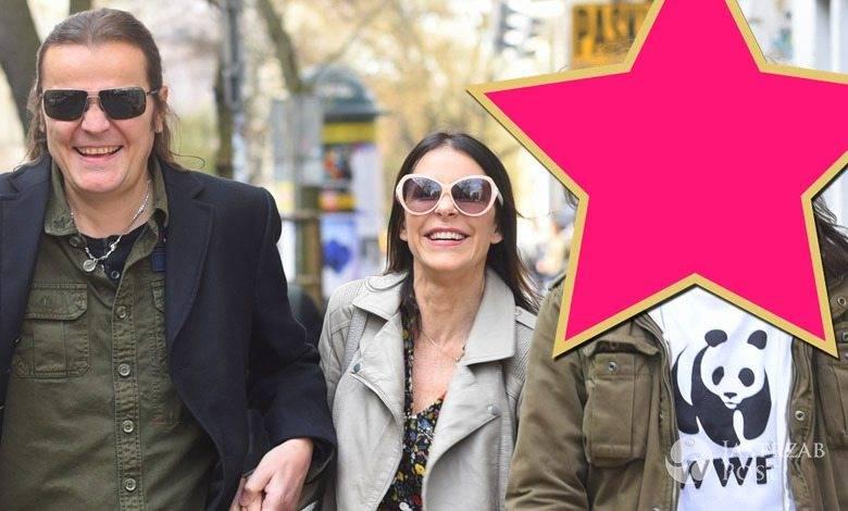 Robert Gawliński z żoną Moniką i synem Beniaminem zdjęcia