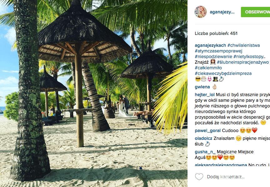 Ślubne zdjęcie na Instagramie Agnieszki Szulim