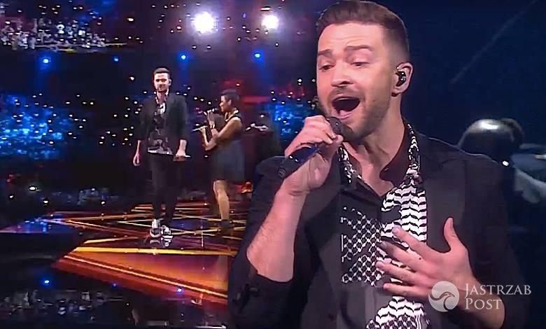 Justin Timberlake w finale Eurowizji 2016. Cały występ