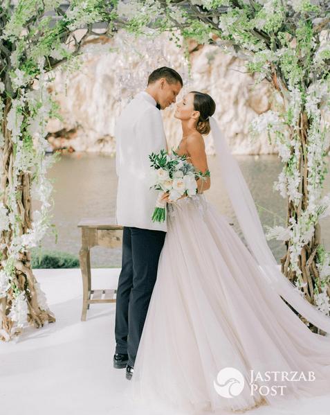 Wojciech Szczęsny i Marina Łuczenko zdjęcia ze ślubu