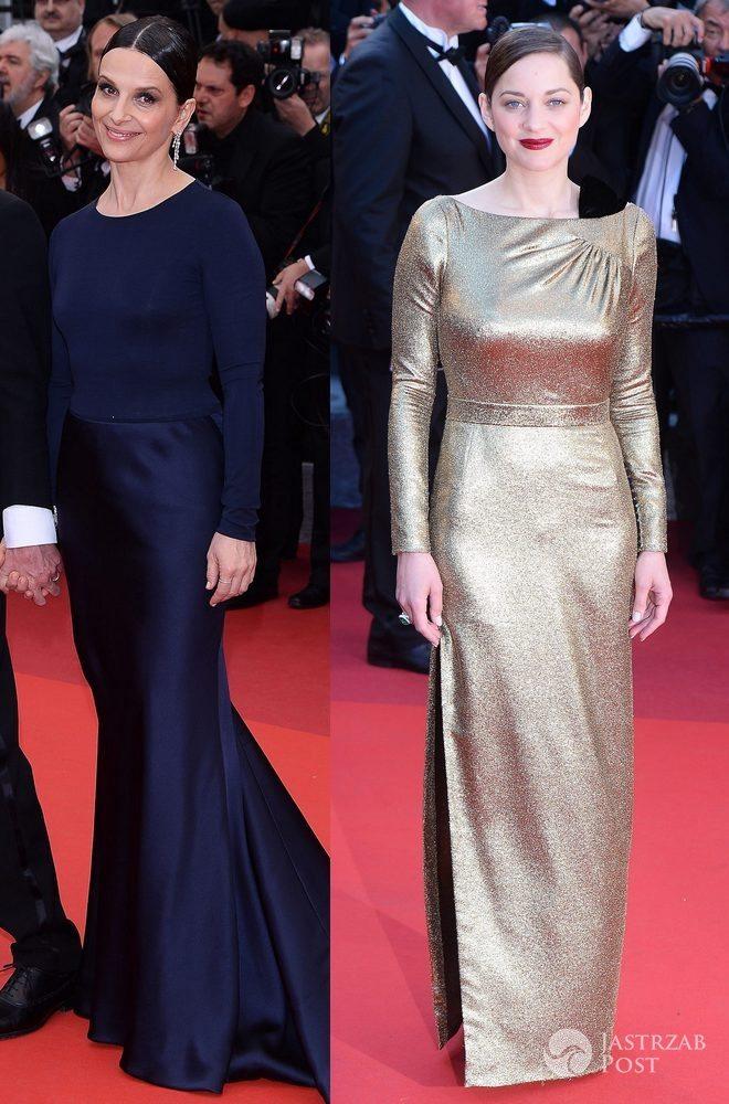 """Juliette Binoche (kreacja: Armani Prive) i Marion Cotillard (kreacja"""": Christian Dior), festiwal filmowy w Cannes 2016 (fot. ONS)"""