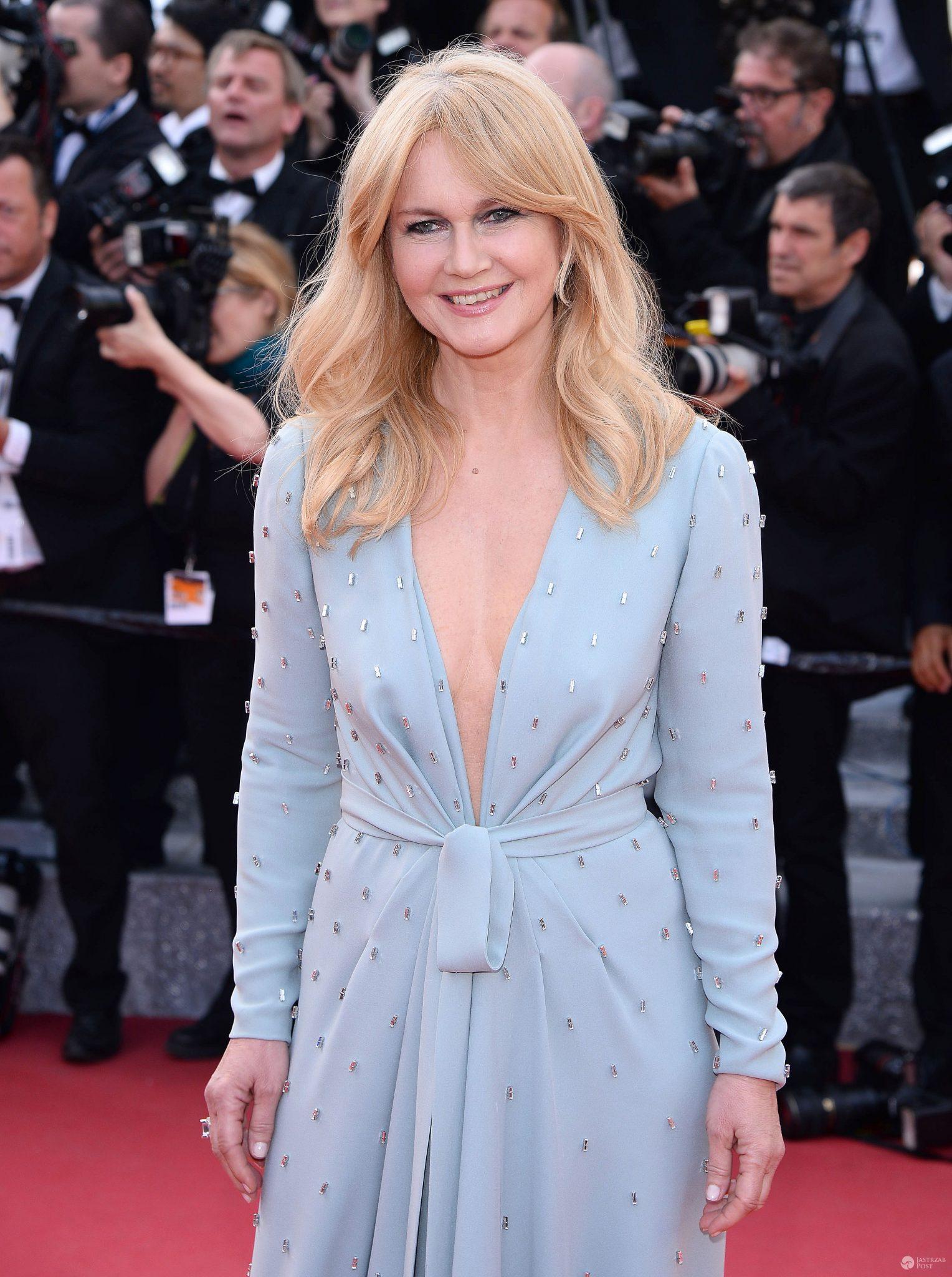 Grażyna Torbicka w kreacji Tomasza Ossolińskiego w Cannes 2016