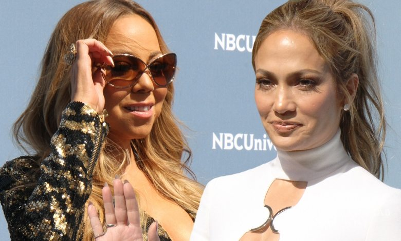 Mariah Carey i Jennifer Lopez, NBCUniversal 2016 Upfront (fot. ONS)
