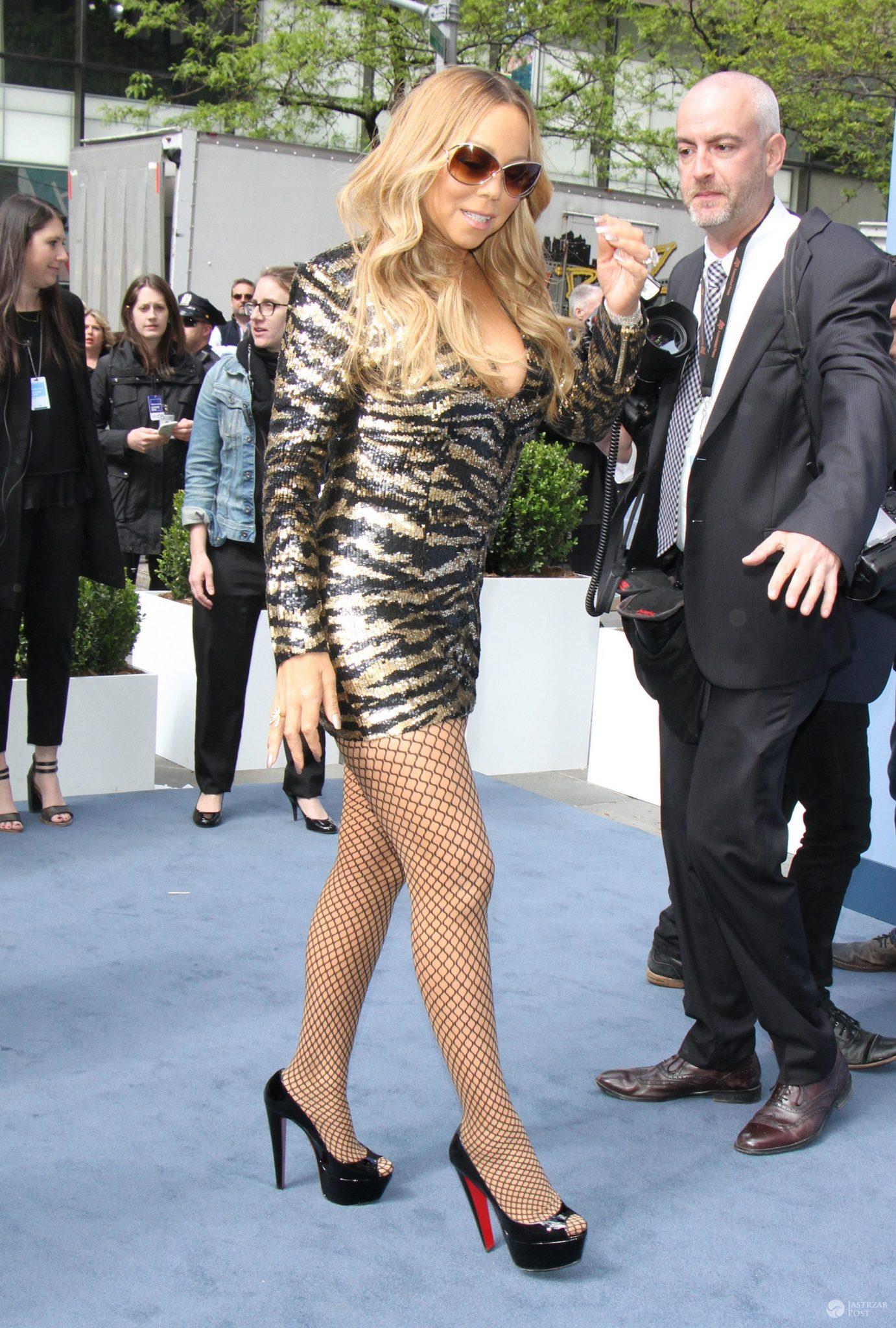 Mariah Carey w cekinowej mini, NBCUniversal 2016 Upfront (fot. ONS)