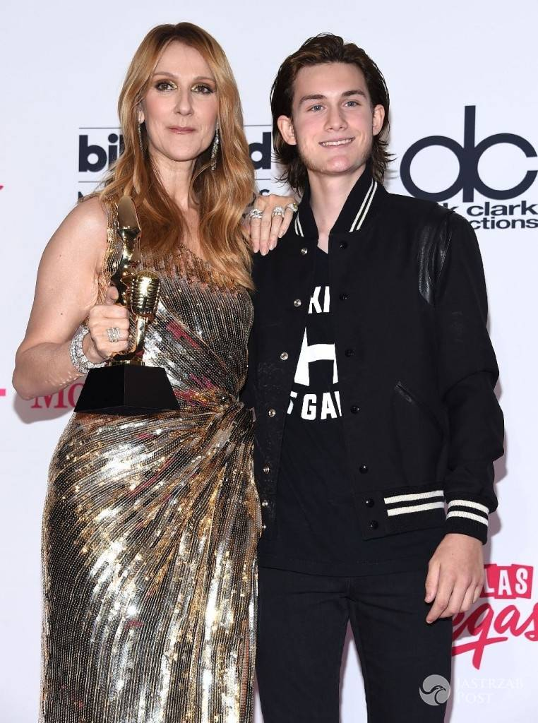 Celine Dion z synem na Billboard Music Awards 2016