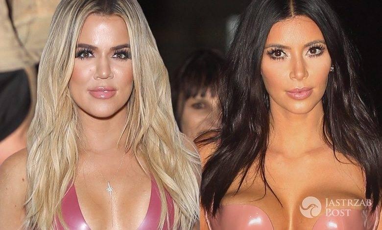 Khloe Kardashian w lateksowej sukience jak Kim Kardashian (fot. ONS, East News)