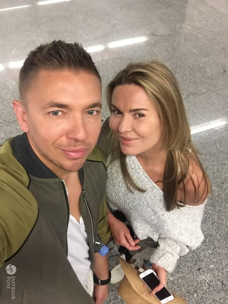 Hanna Lis i Łukasz Jemioł przed wylotem do Azji