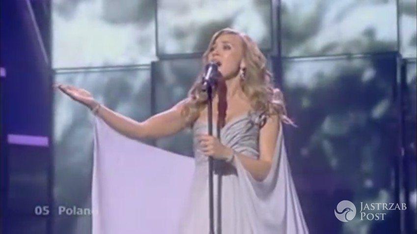 Niezapomniane kreacje polskich gwiazd na Eurowizji: Lidia Kopania (suknia: Maciej Zień), Eurowizja 2009