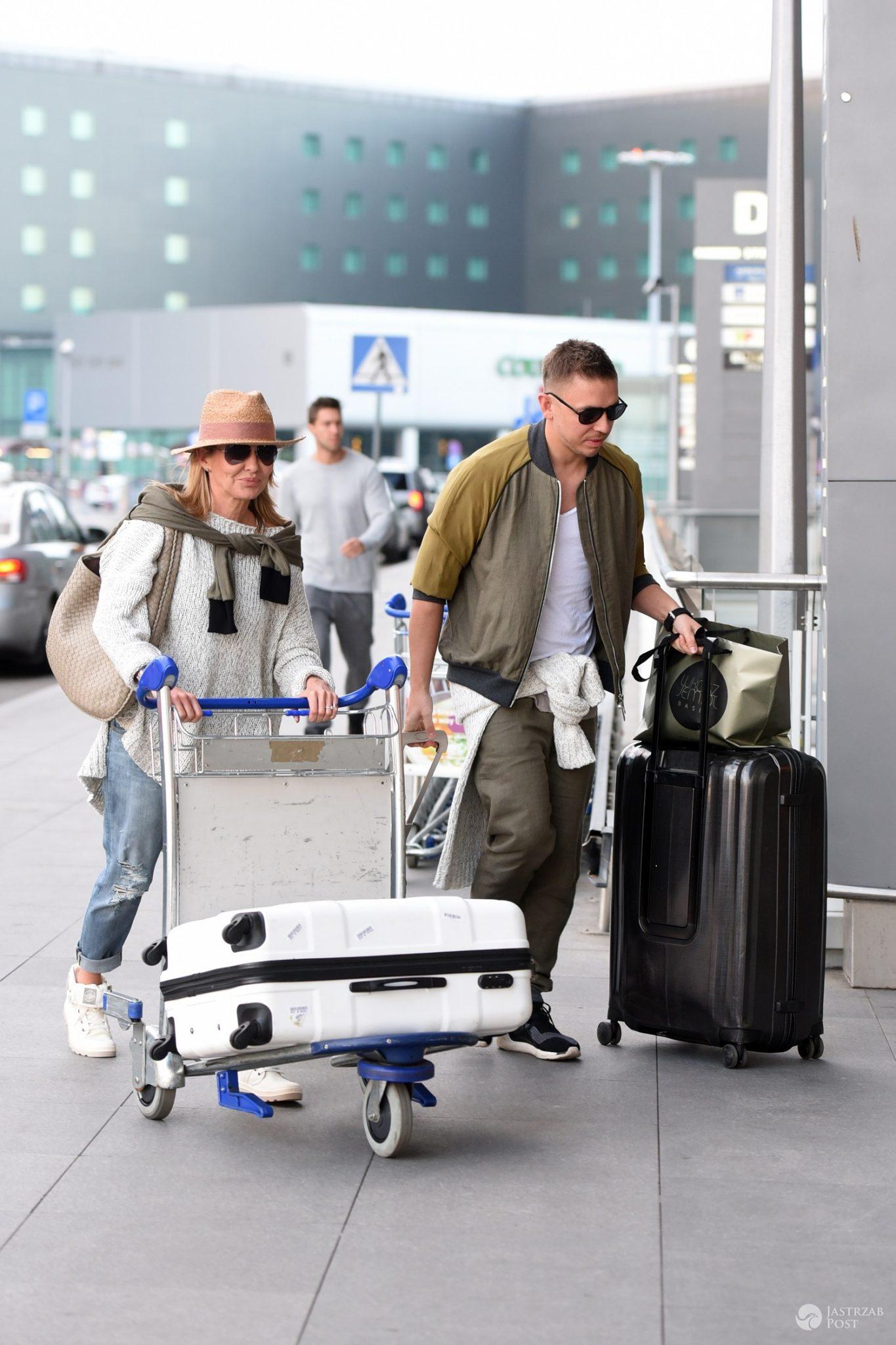 Gwiazdy Azja Express przed wylotem do Azji - Hanna Lis i Łukasz Jemioł