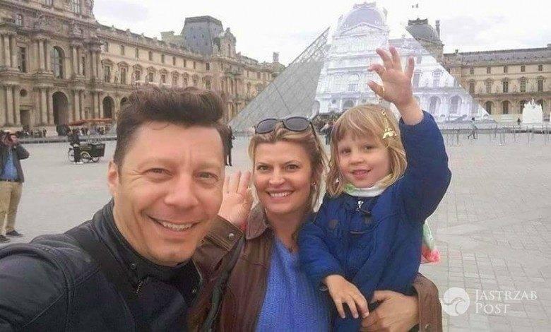 Justyna Tomańska z rodziną w Paryżu
