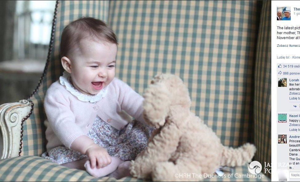 Księżniczka Charlotte skończyła rok