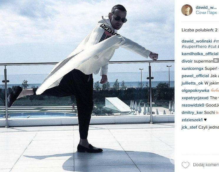Dawid Woliński na majówce w Soczi (fot. Instagram)