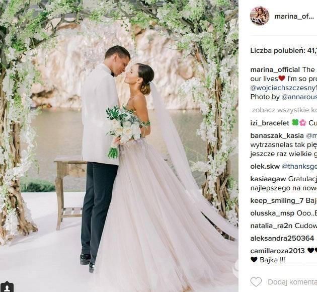 Marina Łuczenko i Wojtek Szczęsny pobrali się