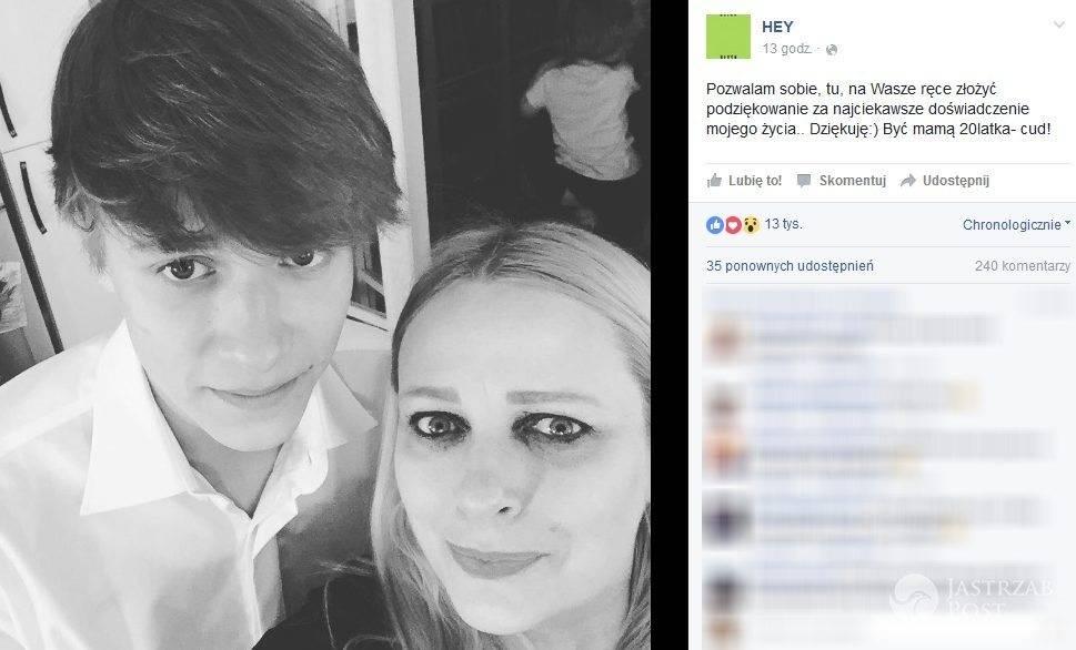 Kasia Nosowska i jej syn Mikołaj (fot. Facebook)