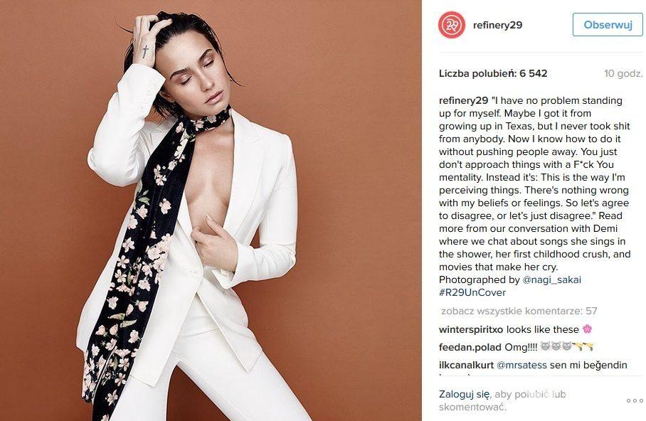 Demi Lovato w ubraniach Magdy Butrym w sesji dla Refinery29 (fot. Instagram)
