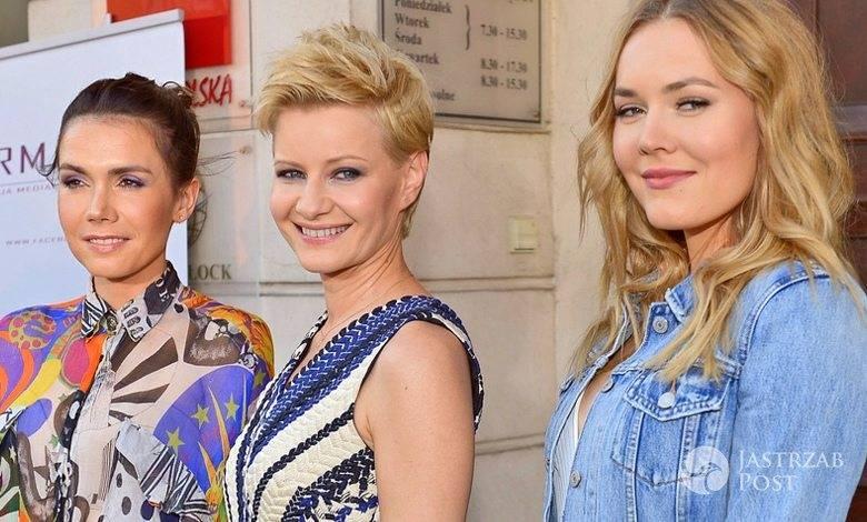 Olga Bołądź, Małgorzata Kożuchowska, Magdalena Lamparska na specjalnym pokazie filmu Kochaj
