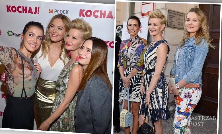 """Olga Bołądź, Małgorzata Kożuchowska, Magdalena Lamparska, pokaz specjalny filmu """"Kochaj"""" (fot. AKPA)"""
