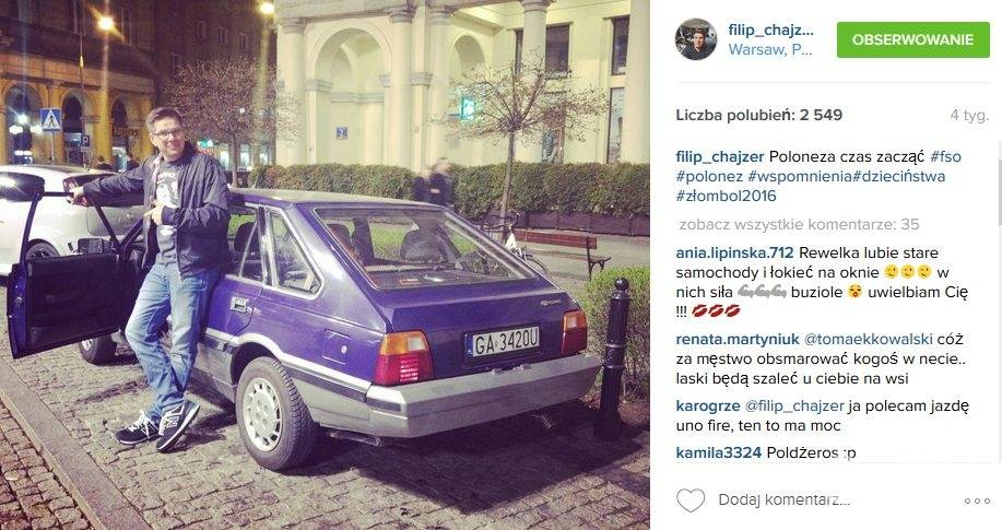 Gwiazdy w butach New Balance: Filip Chajzer (fot. Instagram)
