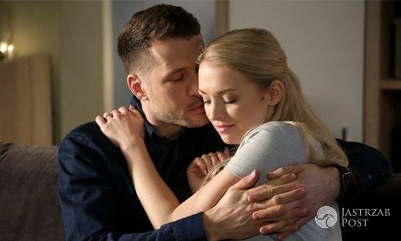 M jak miłość, Asia (Barbara Kurdej-Szatan) i Tomek (Andrzej Młynarczyk)