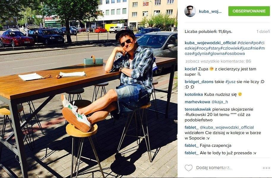 Gwiazdy w butach New Balance: Kuba Wojewódzki (fot. Instagram)