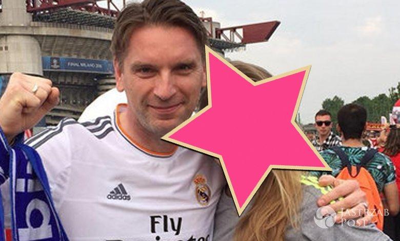 Tomasz Lis z córką Polą na San Siro