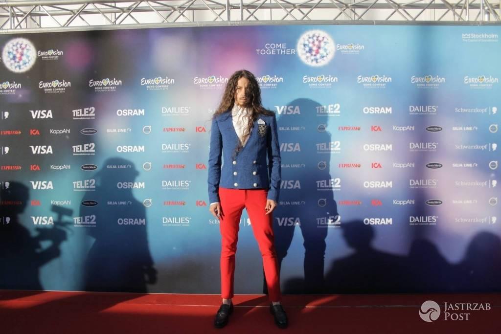 Michał Szpak na ceremonii otwarcia Eurowizji 2016