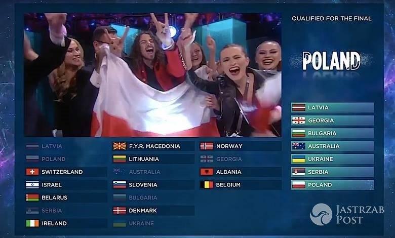Wyniki drugiego półfinału Eurowizji 2016. Polska w finale