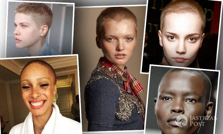 modelki z krótko ściętymi włosami, fryzura na jeżyka