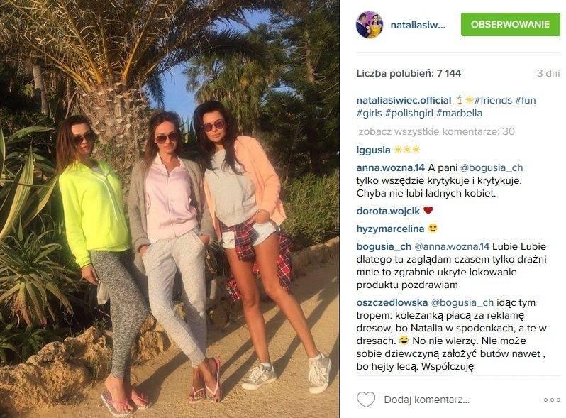 Gwiazdy w butach New Balance: Natalia Siwiec (fot. Instagram)