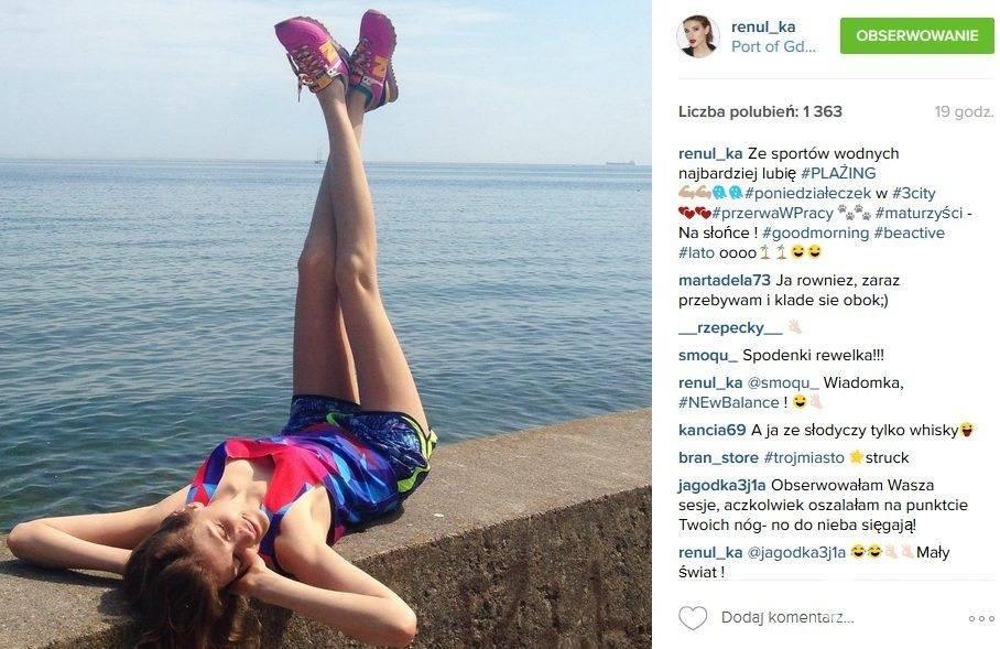 Gwiazdy w butach New Balance: Renata Kaczoruk (fot. Instagram)