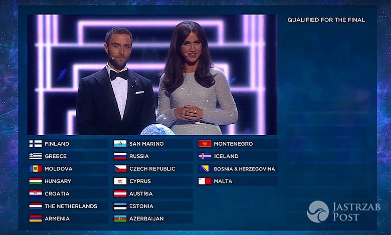Wyniki pierwszego półfinału Eurowizji 2016. Kto w finale?
