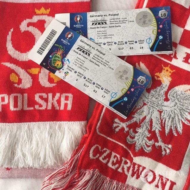 Natalia Siwiec na meczu Polska-Niemcy