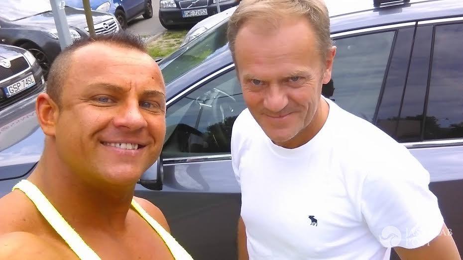 Donald Tusk trenuje z Mateuszem Skrentnym