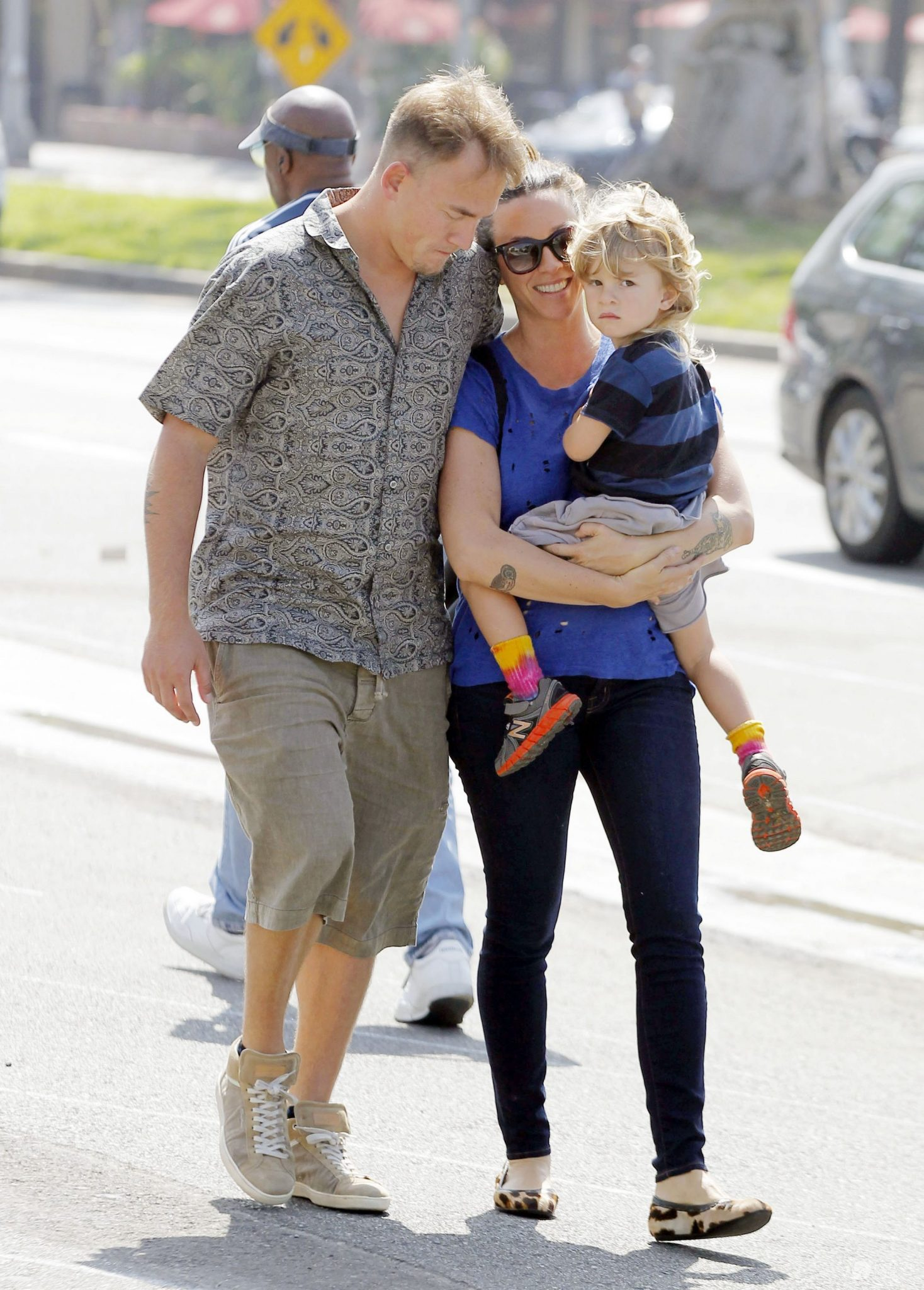 Alanis Morissette, jej mąż Mario Treadway i Ever, syn pary (fot. ONS)