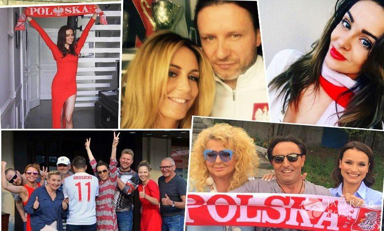 Jak gwiazdy kibicują Polsce w meczu z Niemcami na EURO 2016?