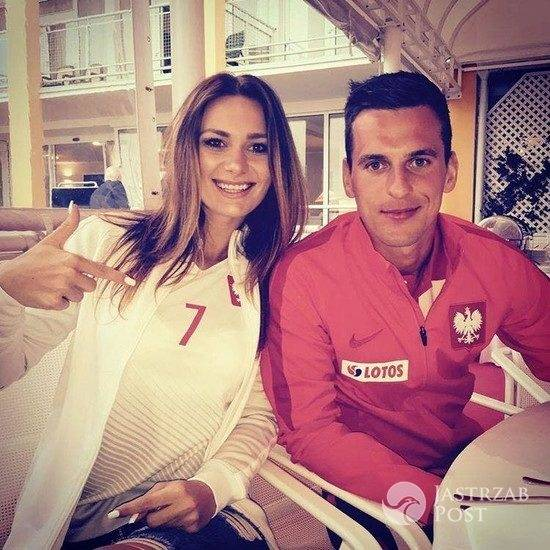 Arkadiusz Milik i jego dziewczyna Jessica Ziółek