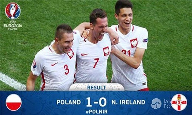 Polska wygrała z Irlandią Północną 1:0 na EURO 2016