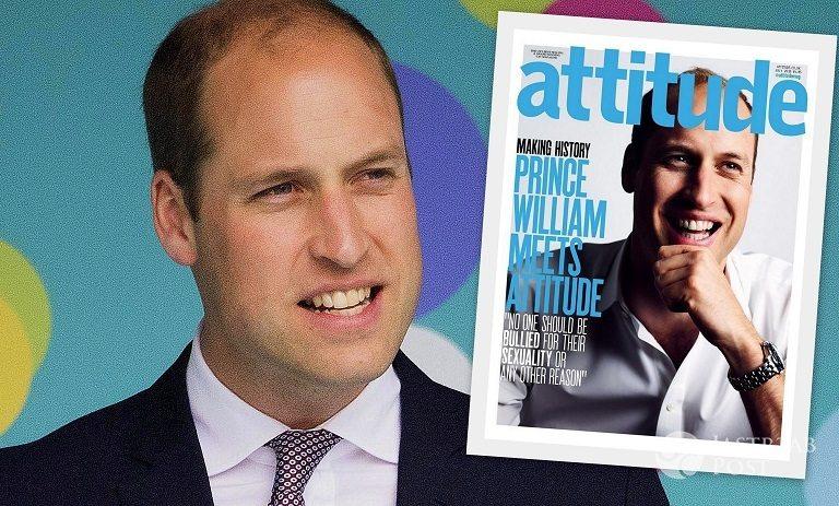 Książę William na okładce magazynu gejowskiego