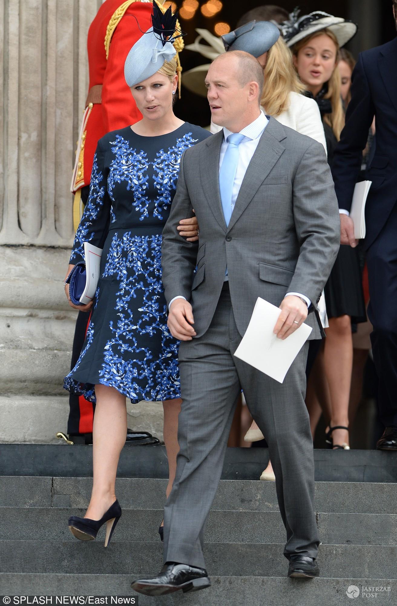 90. urodziny królowej Elżbiety II - księżniczka Zara z mężem