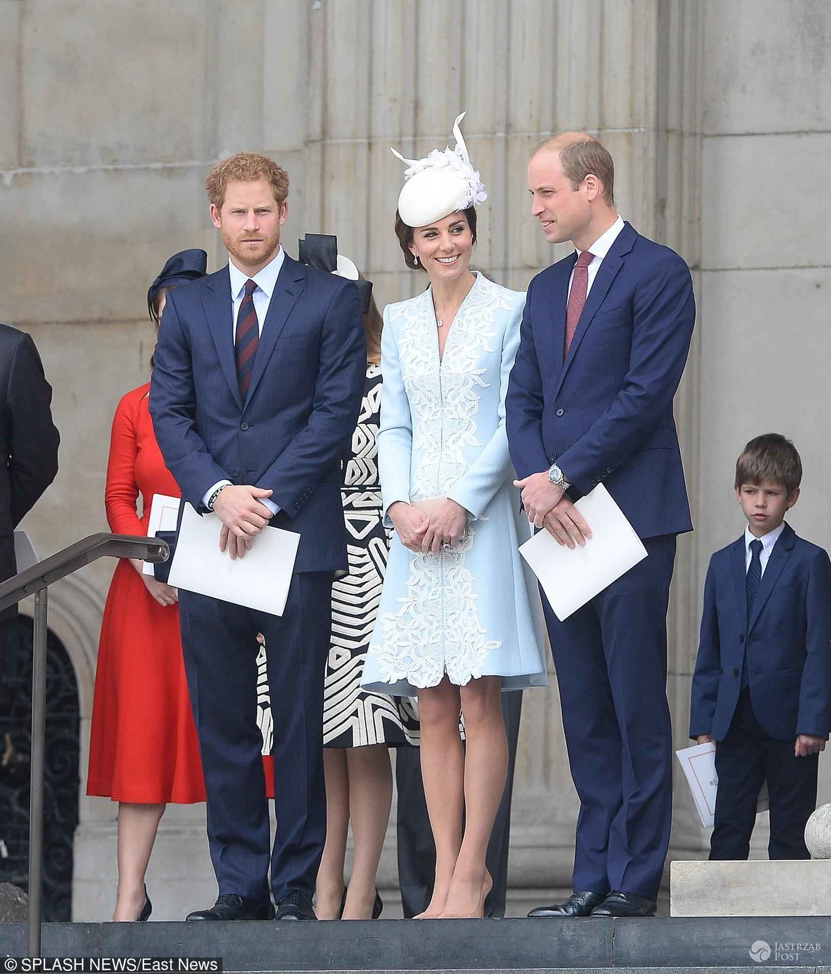 90. urodziny królowej Elżbiety II - książę Harry, księżna Kate i książę William