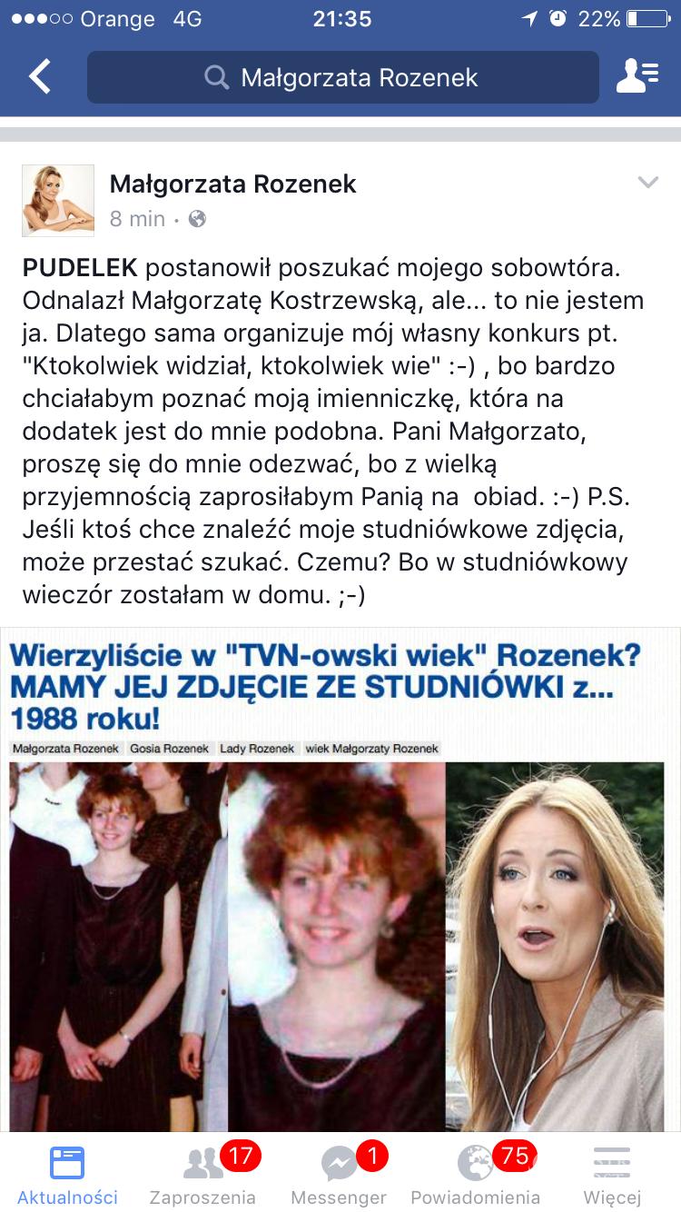 Ile lat ma Małgorzata Rozenek? Komentarz gwiazdy