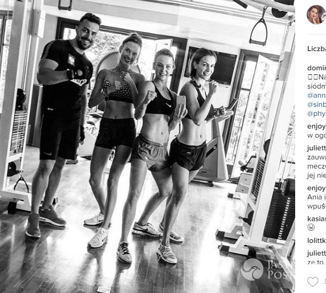 Anna Lewandowska ćwiczy z Dominiką Grosicką i Sarą Boruc
