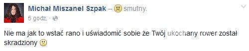 Michał Szpak został okradziony
